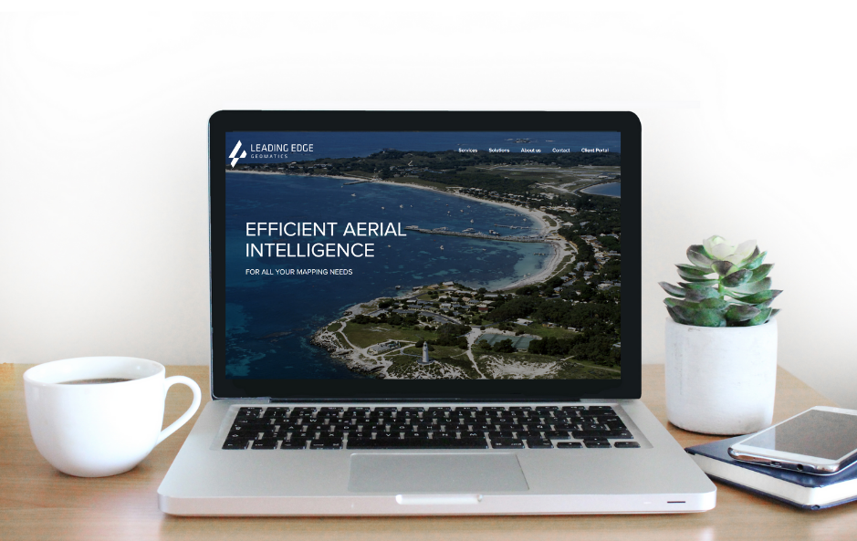 Leading Edge Geomatics' showcases its new brand identity which includes a new website.